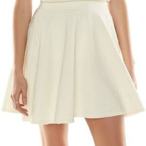 Disney LC Lauren Conrad Cream Minnie Mouse Skirt